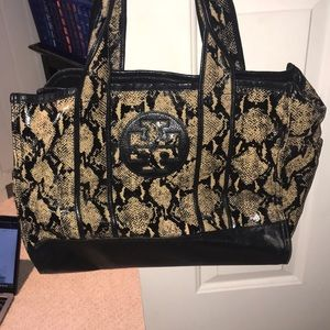 Tory Burch Snakeskin Tote